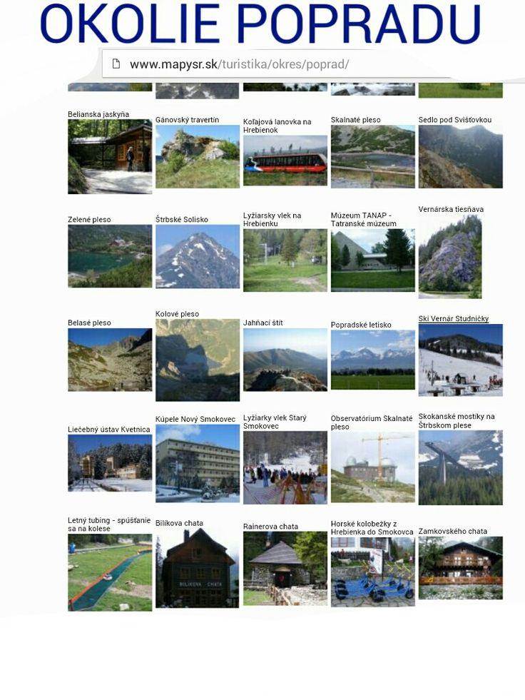 Okolie mesta Poprad http://www.mapysr.sk/turistika/okres/poprad/