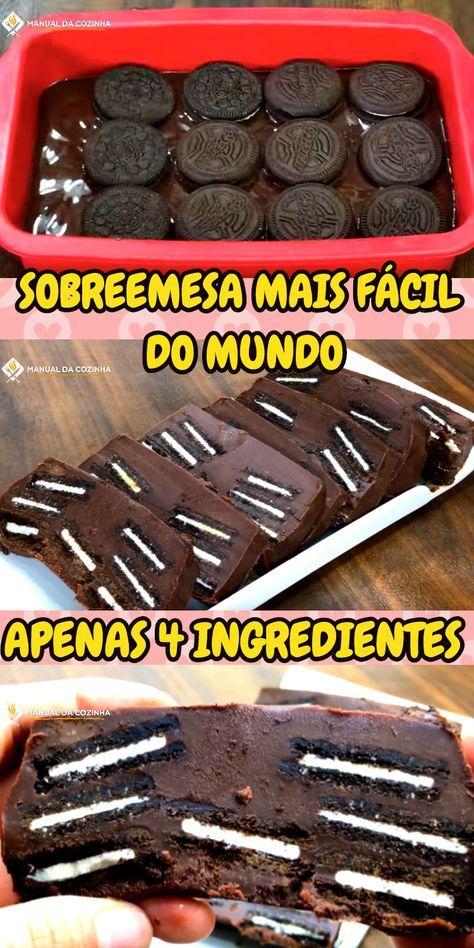 SOBREMESA MAIS FÁCIL DO MUNDO FEITA COM APENAS 4 INGREDIENTES #sobremesafacil #sobremesa #cjhocolate #biscoito #bolacha #cozinha #receita #receitafacil #receitas #comida #food #manualdacozinha #aguanaboca #alexgranig
