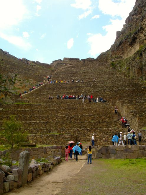 An unusual place for toddlers to learn to climb - the stunning Ollantaytambo in the Sacred Valley in Peru. #travel #kids #travelwithkids #familytravel #familyvacations #familyholidays #peru http://www.suitcasesandstrollers.com/articles/view/the-sacred-valley?l=all