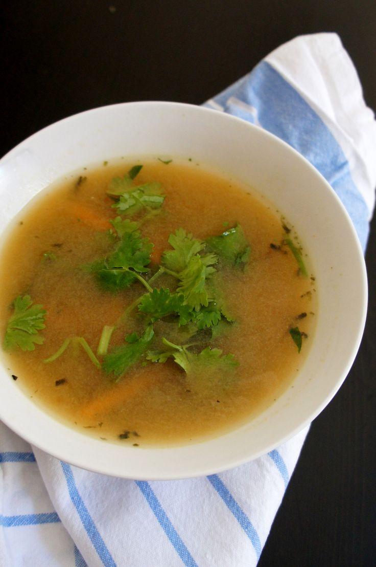 Vegetable miso soup (recipe testing for Ricki Heller)