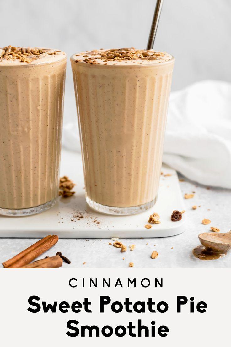 Cinnamon Sweet Potato Smoothie (tastes like pie
