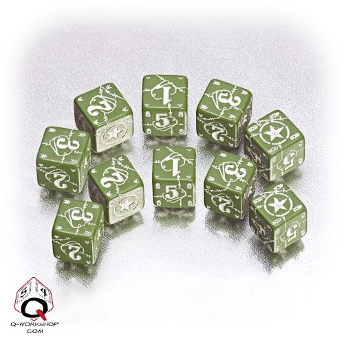 Green-white USA battle dice set