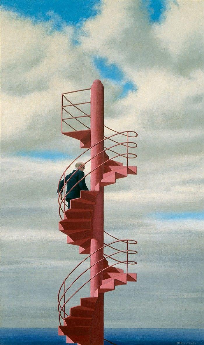 Jacob Descending 1979, by Jeffrey Smart
