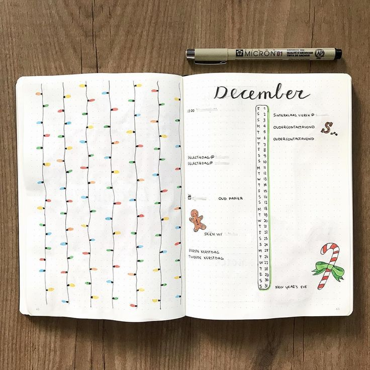 """553 Likes, 11 Comments - Bullet.Rookie (@bullet.rookie) on Instagram: """"I like how simple, yet festive these two pages look together  . What do you think of the colored…"""""""