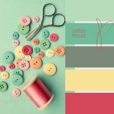 Color palette for my office... add some coral and blue hues to the already yellow and grey.