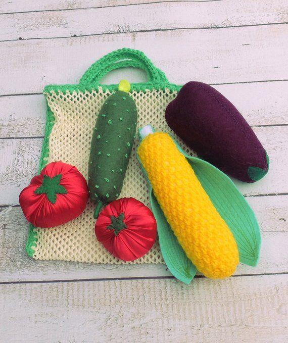 971b89c6961ad Preschool Toy, Fresh Market, Playing Shop, Fake Vegetables, Toddler ...