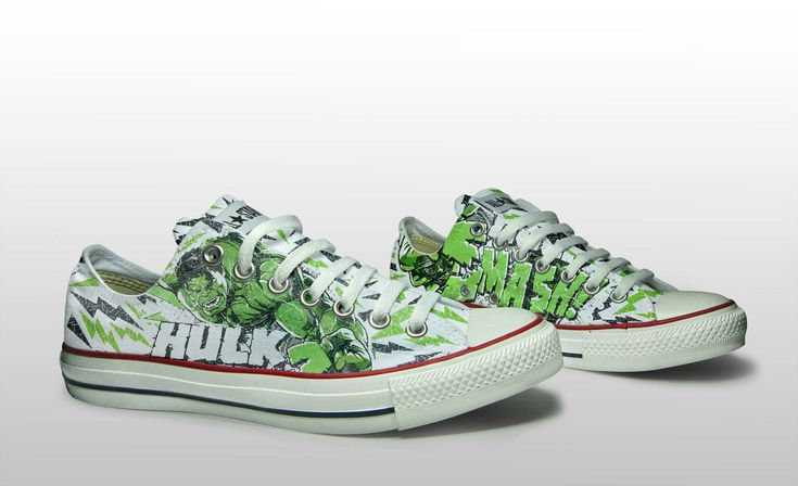 """I loved making these custom Hulk shoes! ★★★★★ """"The shoes are amazing and are made with excellent quality."""" sarah n. http://etsy.me/2C5YgRI #etsy #clothing #shoes #customizemegifts"""