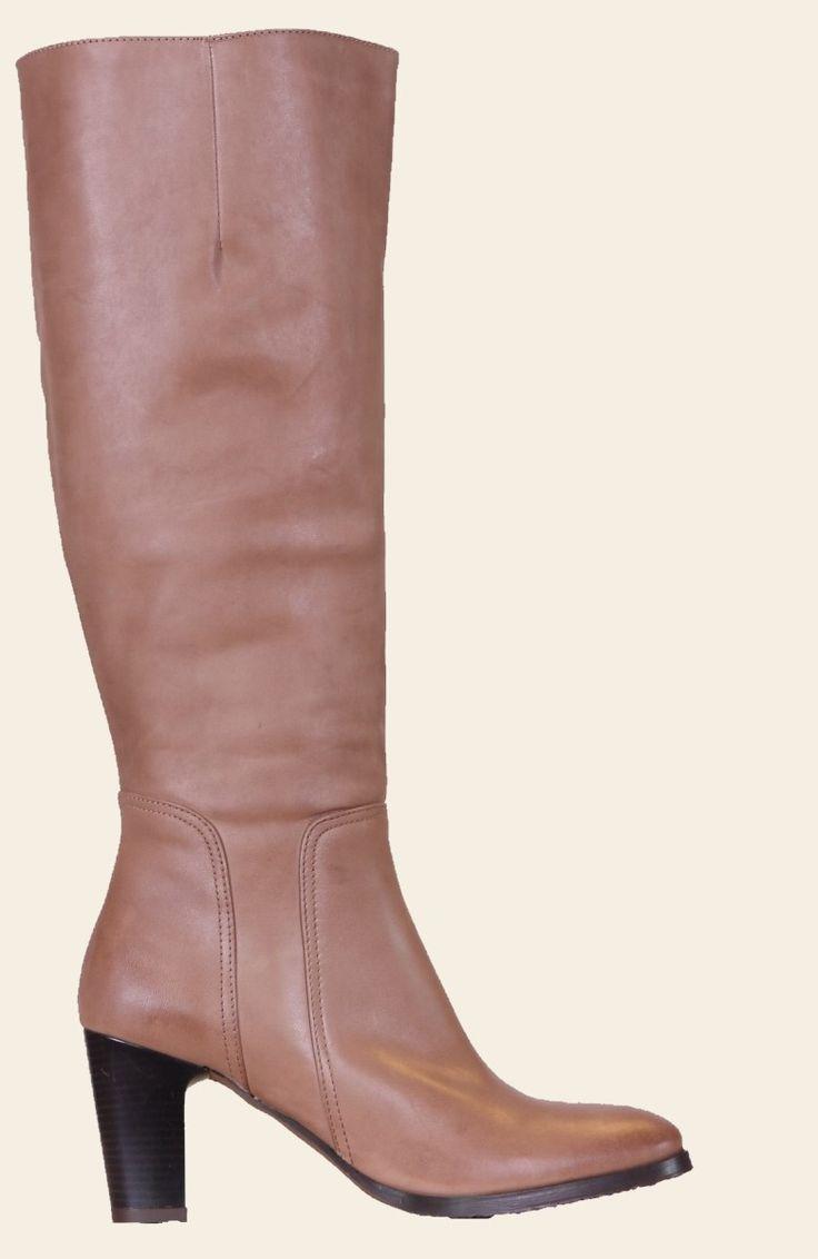 Tijdloze chique laarzen met gladde schacht en hoge hak van Head over Heels 342005 | Jenny Boots de specialist voor de brede schacht