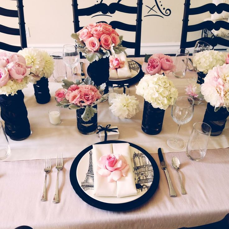 french bridal shower.. I'm going to post this not for me but for someone else down the road ;)                                                                                                                                                      More