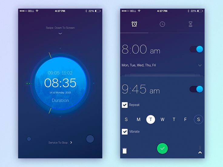 Alarm Clock - Mobile App by Yaroslav Zaytsev