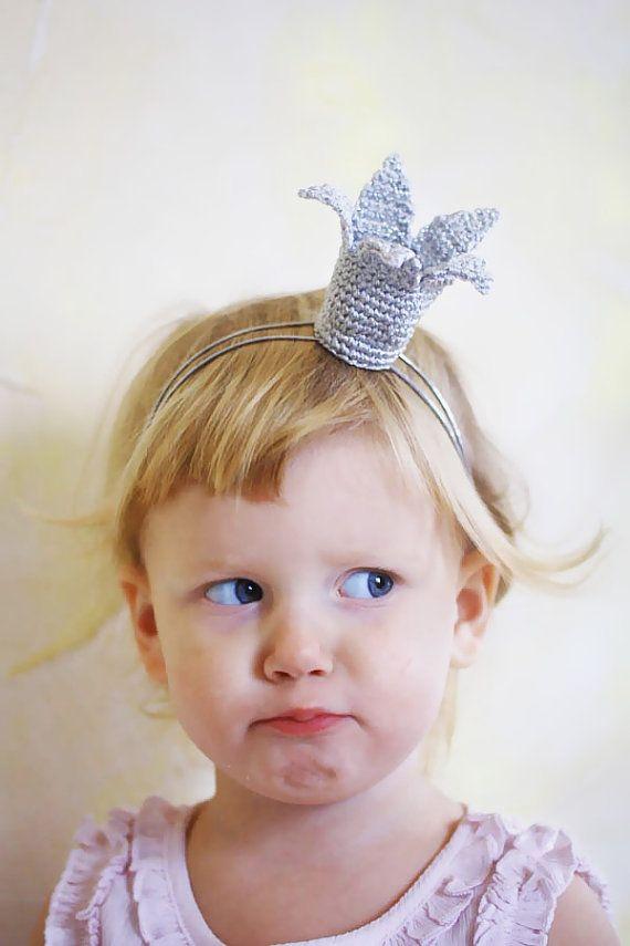 Crochet Baby Princess Crown Headband Christmas costume by creaspir, $12.50