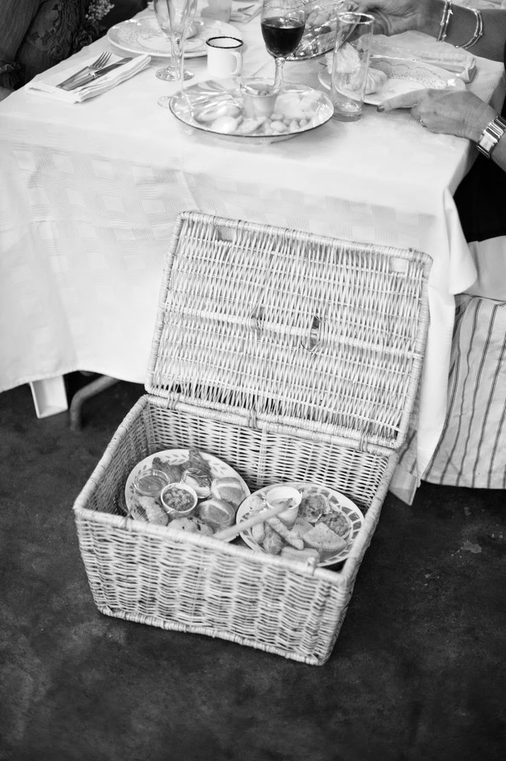 Picnic Baskets served at the tables