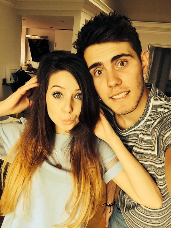 """""""@Zoe James James James Sugg: Hair cut day with @Alfie Dennen Dennen Dennen . I got a bit cut off the ends and some more shape put in. Too scared to go short! Hah"""" #zalfie"""