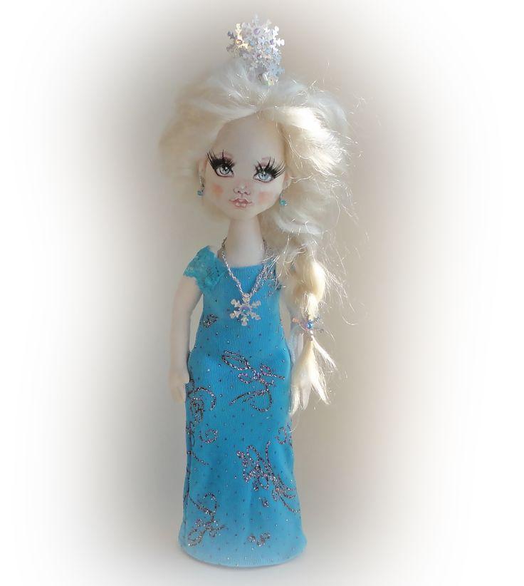 #эльза #холодноесердце #снегурочка #снежнаякоролева #текстильныекуклы #evaidolls @evaidolls