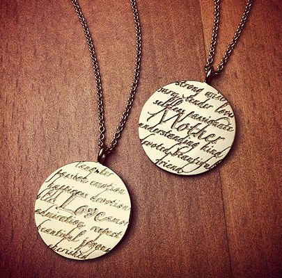 Kay Wicks - 14k Gold Mother and Love Sentiments Necklaces