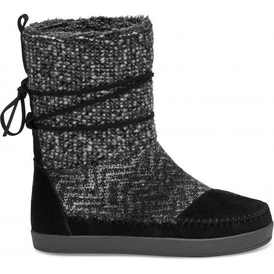 Černé dámské vysoké boty Toms Nepal