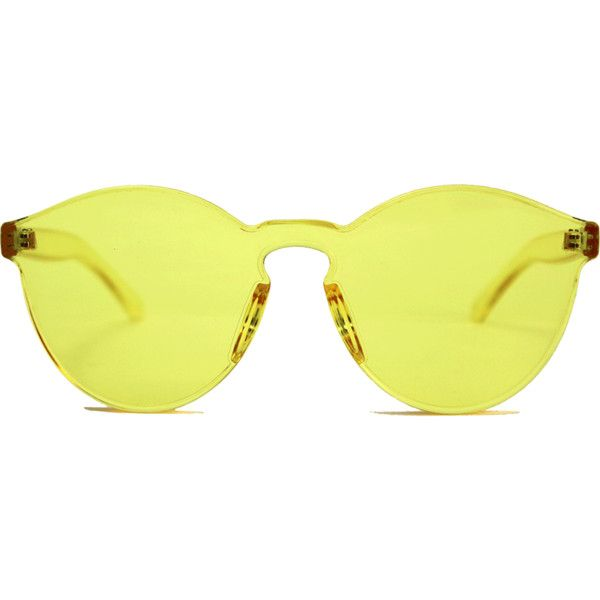 Rumbatime Spring Sunglasses found on Polyvore featuring accessories, eyewear, sunglasses, yellow glasses, rumbatime and yellow sunglasses
