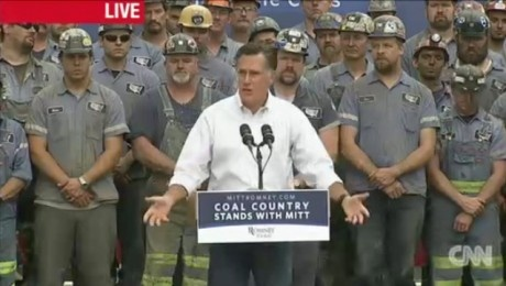 Dirty Politics: Coal miners say they were FORCED to attend Romeny event AND donate. [article] A group of coal miners in Ohio feel they would have been fired if they did not attend an August 14th event with presumptive Republican presidential nominee, Mitt Romney and contribute to his campaign — and to make matters worse, they lost of day of pay for their trouble.