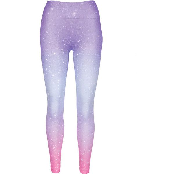 Ombre Galactic Legging (34 PEN) ❤ liked on Polyvore featuring pants, leggings, bottoms, tights, purple galaxy leggings, galaxy pants, purple leggings, ombre leggings and nebula print leggings
