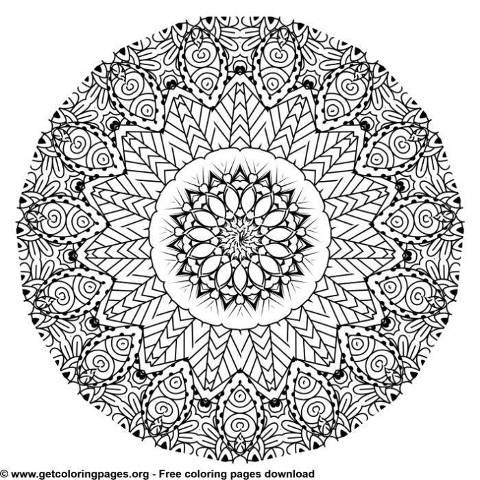 Free 30 Beautiful Mandalas To Download And Color 300dpi High Quality Drawings Post Mandala Coloring Pages Mandala Coloring Pages