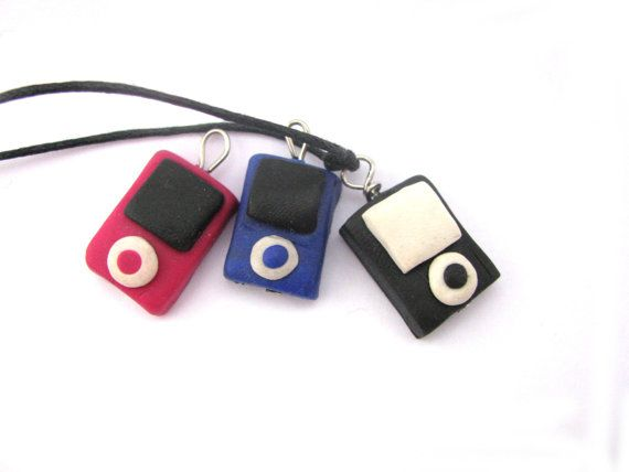 Ipod charm necklace polymer clay charms necklace by Mandyscharms, £5.00