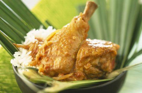 Caribbean coconut chicken