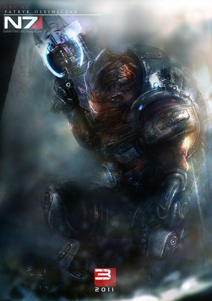 Mass Effect - Grunt  ( this isn't mine but take a look at my art stuff at http://cobaltmedic.deviantart.com/ )