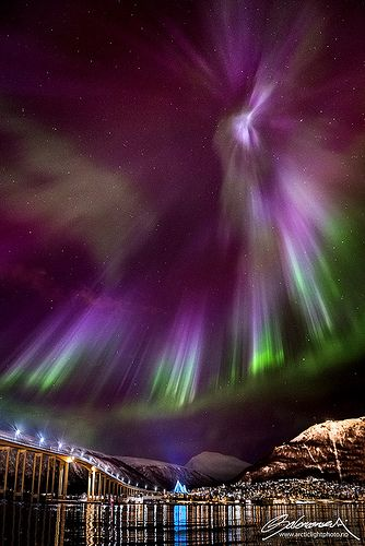 Northern lights, Norway--can you imagine what it must have felt like to see these magnificent lights, out on the in a Viking longboat?