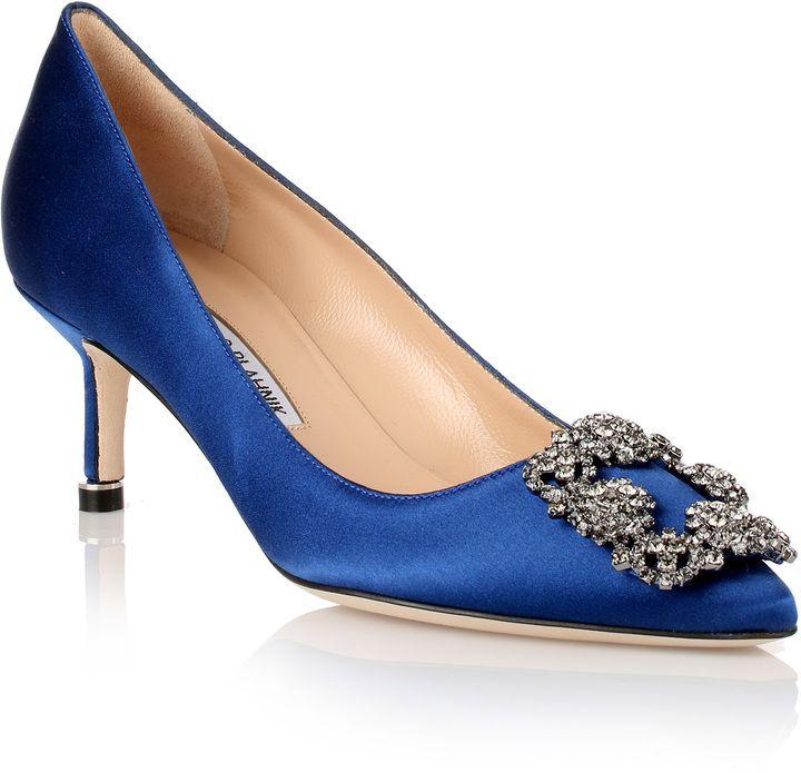 Manolo Blahnik Hangisi 50 Satin Shoes