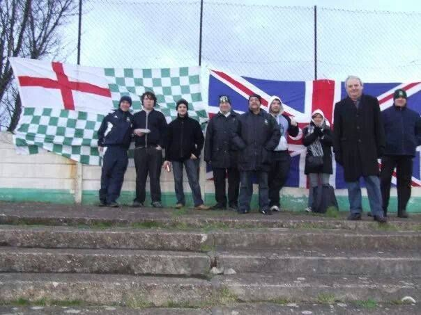 Liam, 2nd from the left, is the only one not wearing warm clothing...and yes you have guessed it - he is a Geordie.