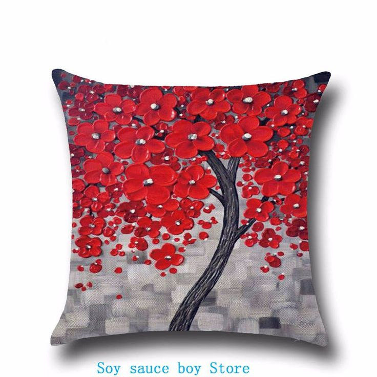 Health christmas Comfortable environment Halloween day 45*45cm Silver anaglyph red flowers Pillow Case for baby Children