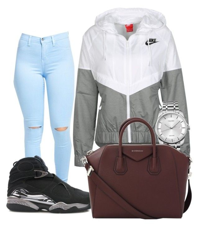 """""""Chrome 8s"""" by corrindapraysforpeace ❤ liked on Polyvore featuring NIKE, Calvin Klein and Givenchy"""