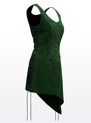 Green leather jerkin. Tauriel-ish