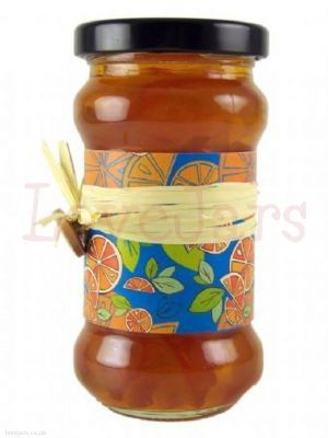 Mixed Citrus Jar Wrap - vibrant and distinctive - far from the typical marmalade look. You can cut it down to make narrower or extend by joining. Maybe use as a lyer with other elements such as raffia or string