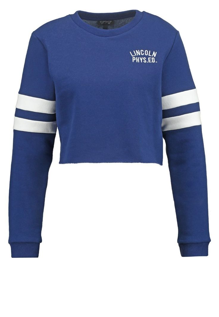 Topshop Bluza krótka niebieska brightblue