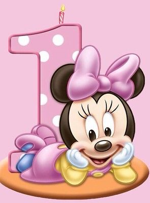 Minnie Mouse First Birthday Cake Topper
