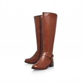 PETRA Brown Flat Knee Boots by Carvela Kurt Geiger | Kurt Geiger