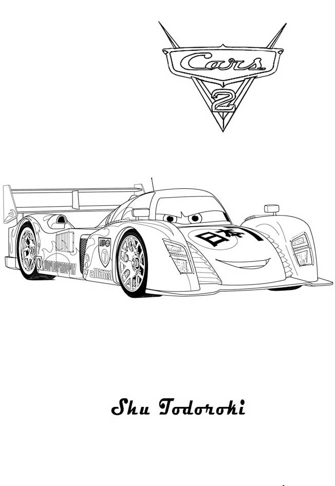 cars free printable coloring pages - Cars 2 Coloring Pages To Print