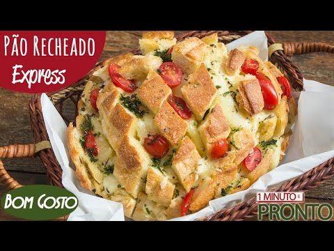 Pão Italiano Recheado - Pronto em 15 minutos! - Cozinha do Bom Gosto