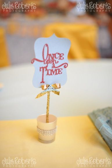 Beauty and the Beast - Princess Belle Royal Ball - Birthday Party Ideas - Princess Parties - Centerpiece - decor -