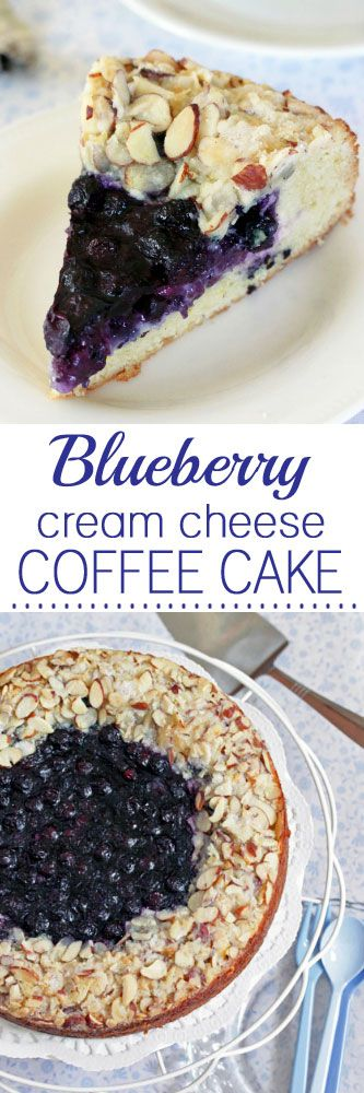 Blueberry Cream Cheese Coffee Cake #coffeecake #creamcheesecake #blueberrycake #desserts #cake