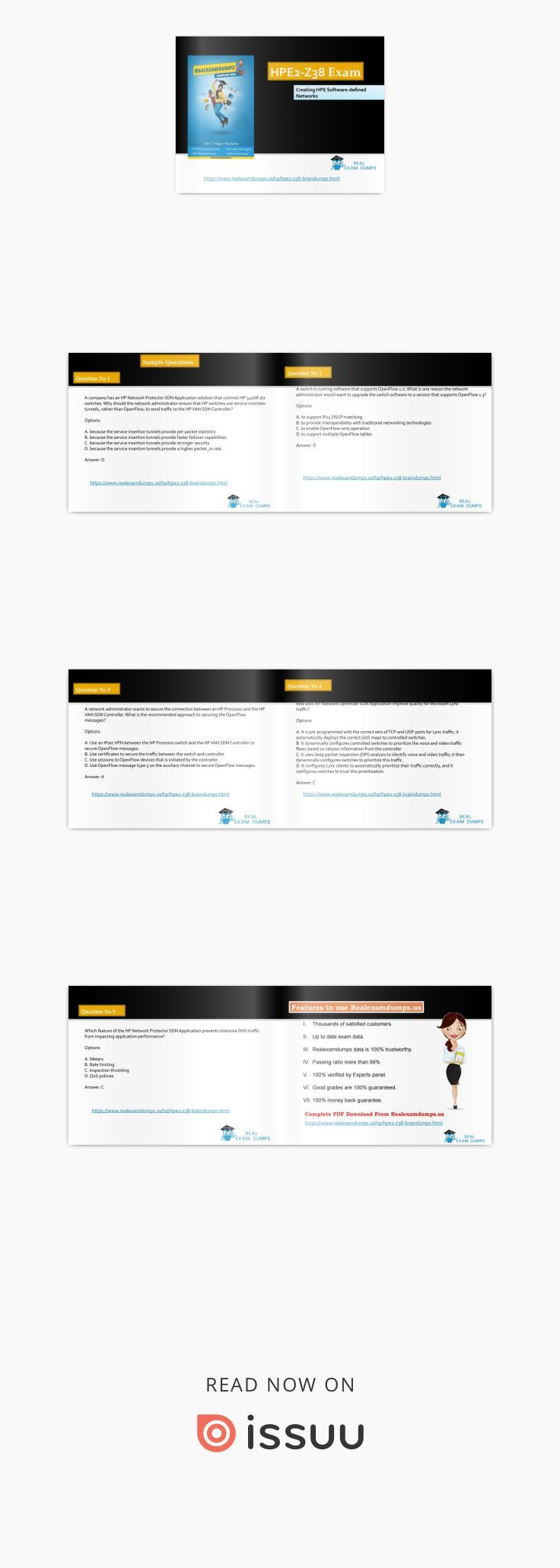 HPE2-Z38 Braindumps | Get HPE2-Z38 Dumps PDF - HPE2-Z38 Study Material | RealExamDumps  If you want to get certified in Creating HPE Software-defined Networks but can't find the right study material then join us now and Download full Verified Creating HPE Software-defined Networks study material from RealExamDumps.us and pass your PE2-Z38 exam in first attempt. If you really want to prepare your exam in one day then you should need to prepare your exam with best study material…
