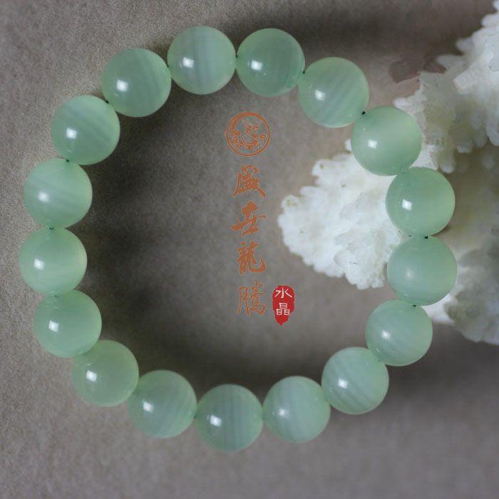 Natural green stone bracelet beads male Women jade crystal new arrival cat-eye