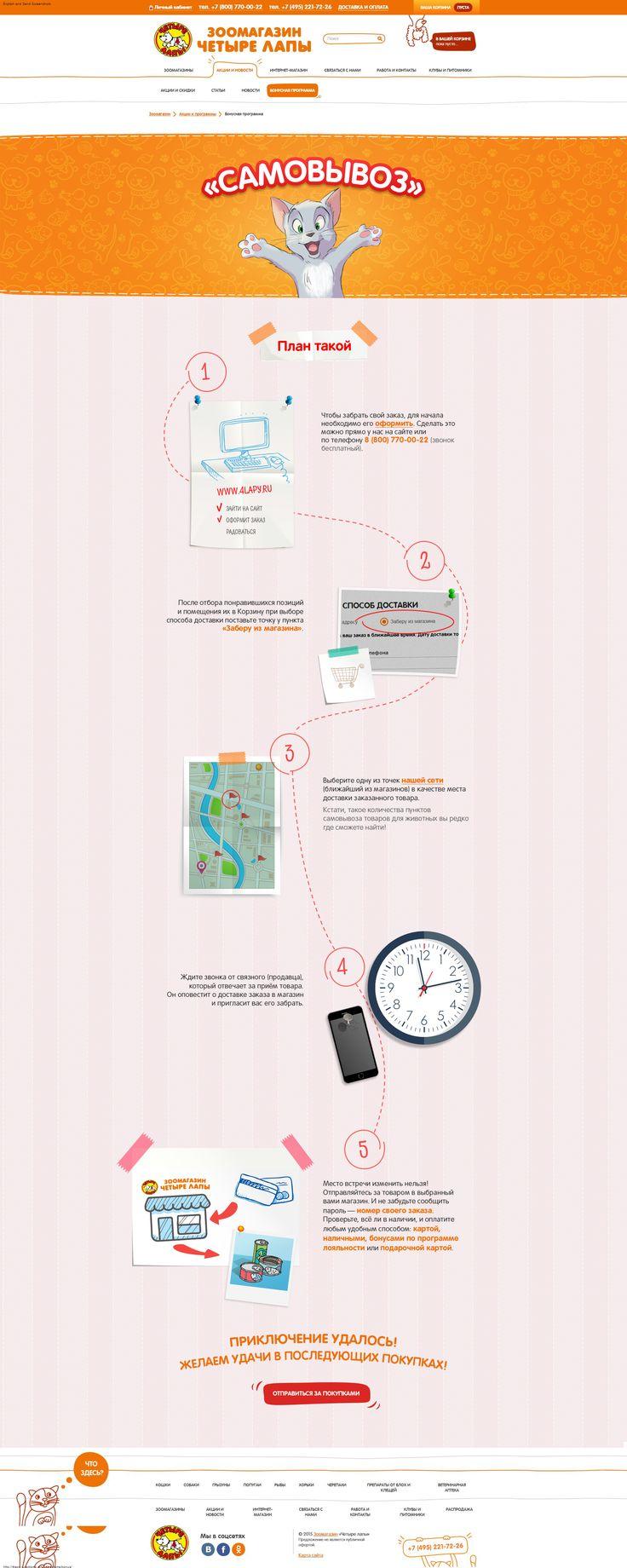 CHETYRE LAPY: A plan to buy to pick-up. Easy, comfortable and quick. // ЧЕТЫРЕ ЛАПЫ: План по покупке с самовывозом: легко, удобно и быстро. #EMAILMATRIX #emailmarketing #landingpage