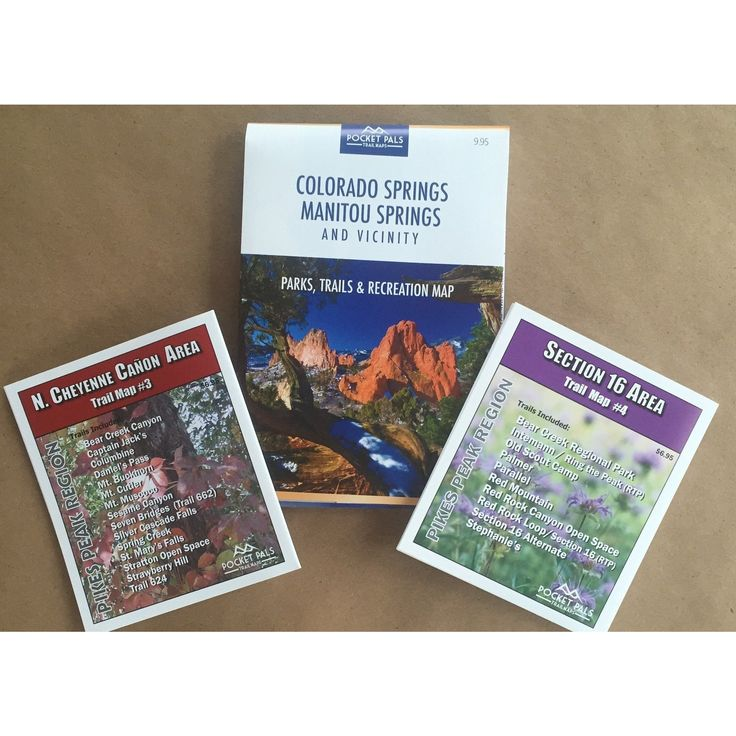 Our Most Popular Colorado Springs Trail Map