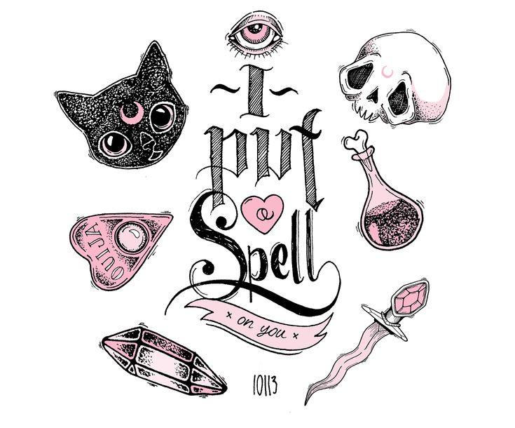 I Put A Spell On You: Pastel Hell / Illustration by Lolle † #illustration #art…