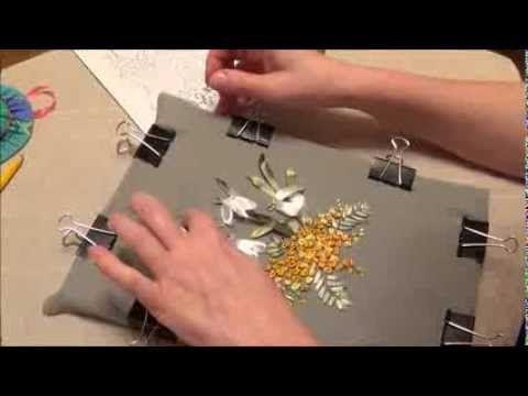 Вышивка лентами. Подснежники и мимоза часть 3