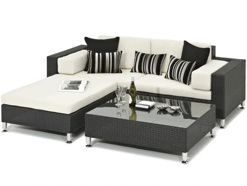 Sicilia Black Rattan Garden Day Bed