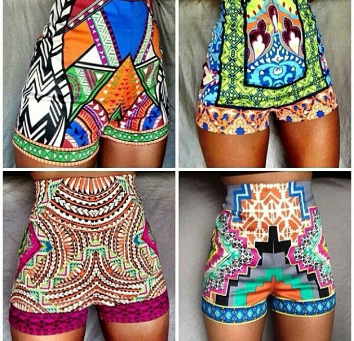 African women print fashion wax fabric clothing shorts inspiration style…