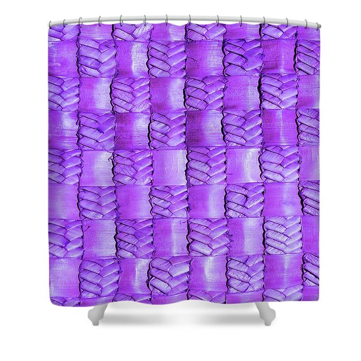Weaving Shower Curtain featuring the photograph Weaving Flax - Lilac Haze by Wairua o te Moana